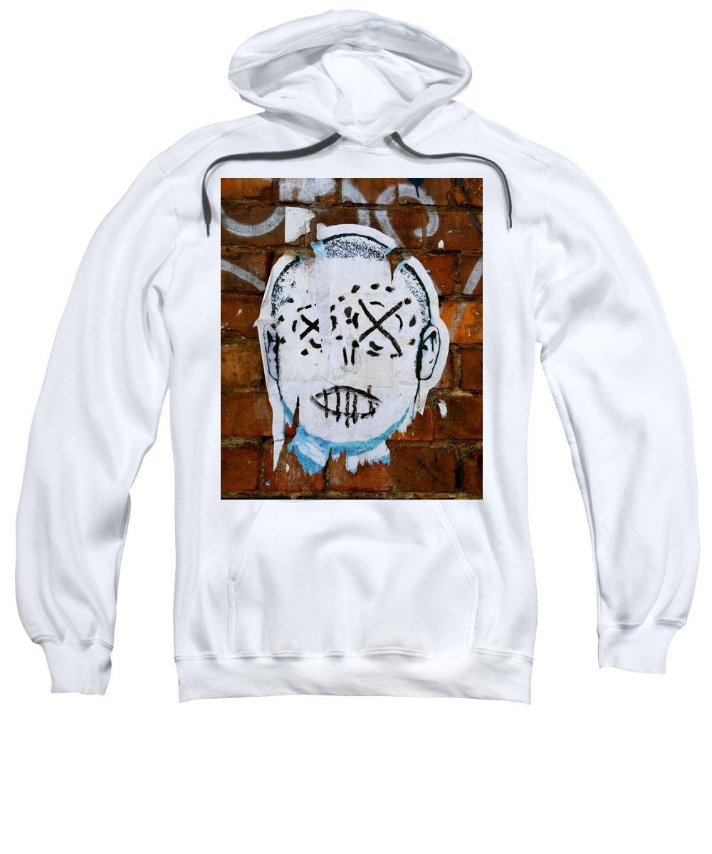 Street Art Sweatshirt featuring the photograph X Eyes by Caroline Reyes-Loughrey