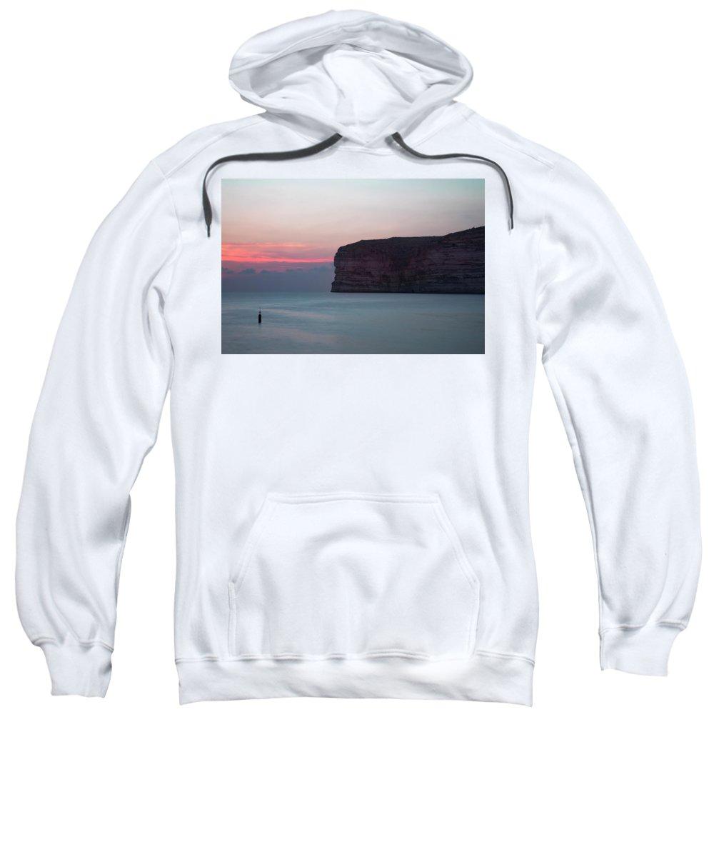 Xlendi Bay Sweatshirt featuring the photograph Xlendi Bay - Gozo by Joana Kruse