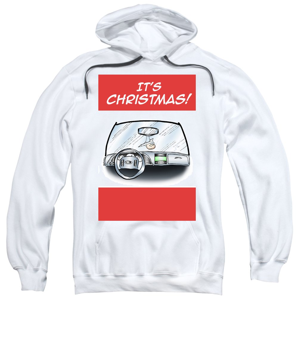 Christmas Sweatshirt featuring the digital art Hang Up Missile Toe by Mark Armstrong