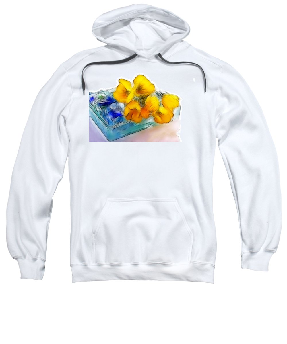 Flower Sweatshirt featuring the photograph Yellow Flowers by Manfred Lutzius