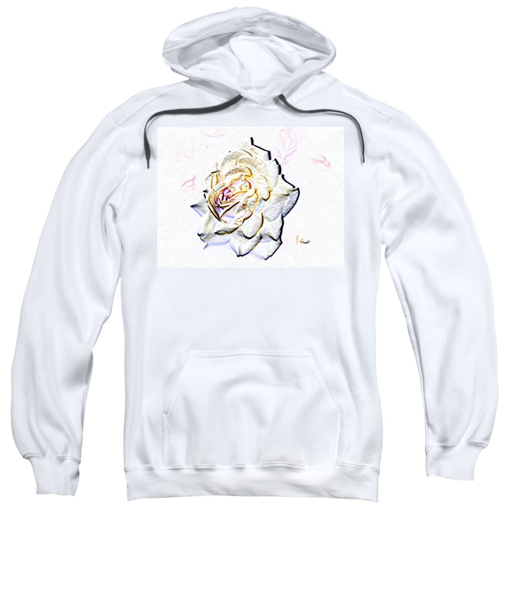 Rose Sweatshirt featuring the digital art Yellow Rose by Tim Allen