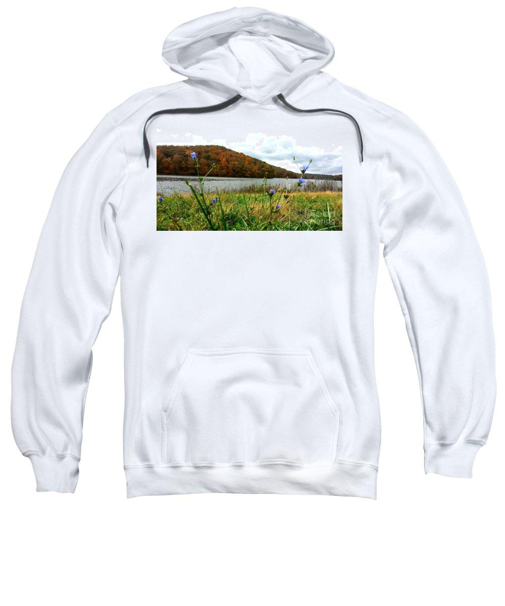 Yellow Sweatshirt featuring the photograph Yellowwood Lake, Southern Indiana by Scott D Van Osdol