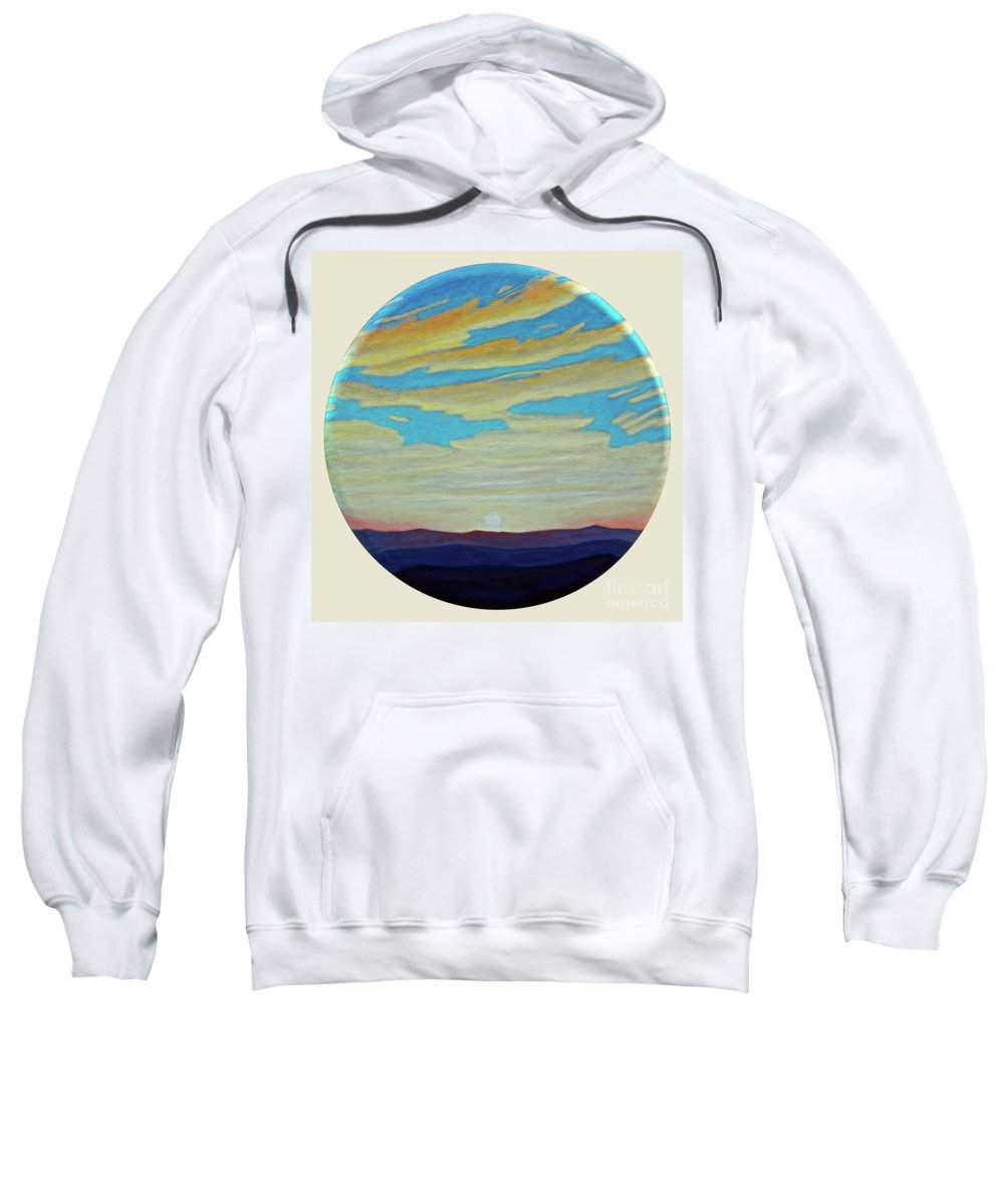 Landscape Sweatshirt featuring the painting Yesterday by Brian Commerford