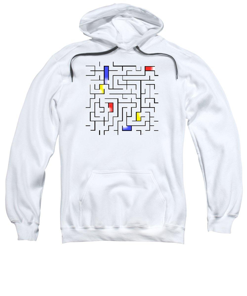 Digital Art Sweatshirt featuring the digital art You Are Here by Lois Boyce