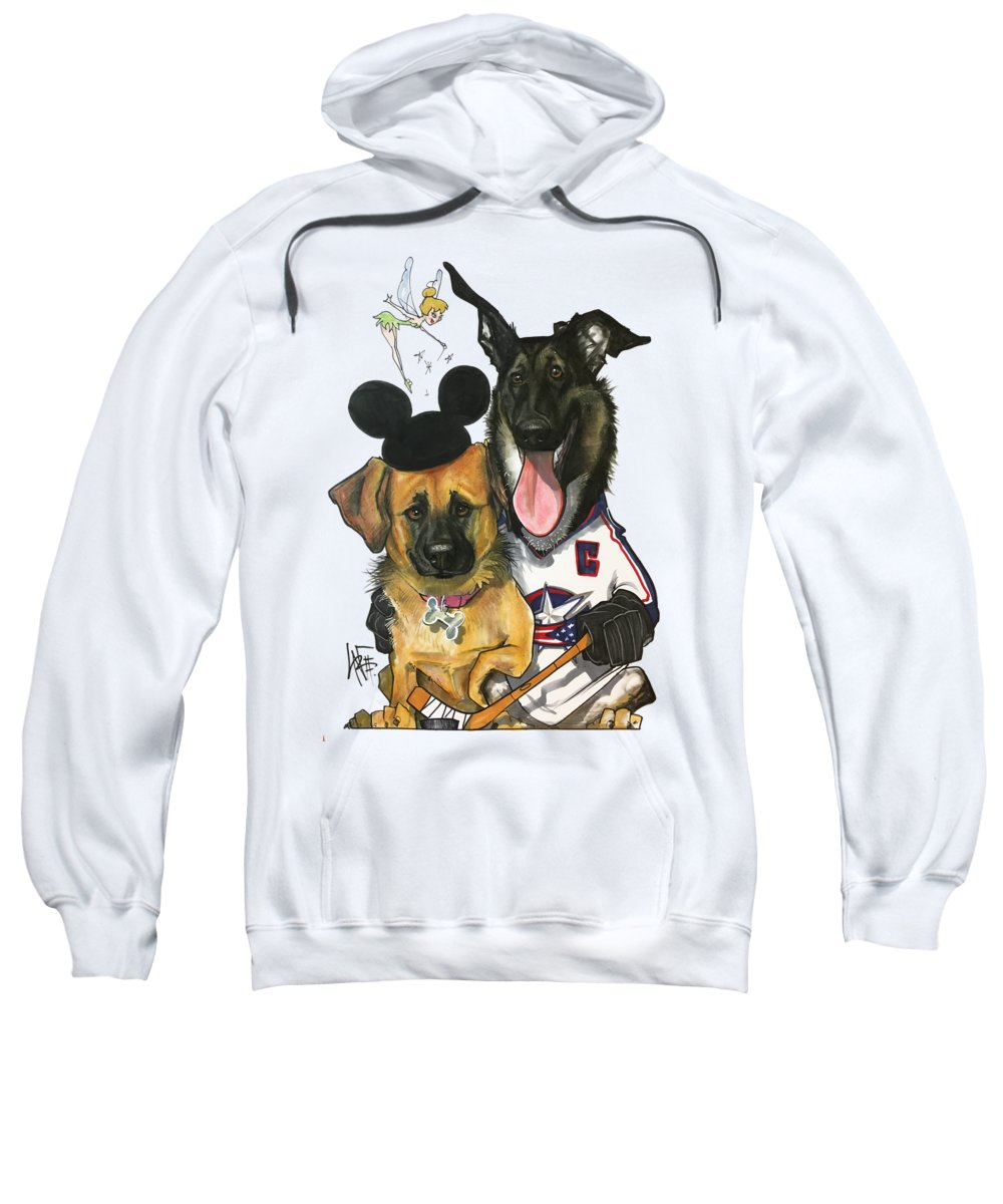 Pet Portrait Sweatshirt featuring the drawing Young 3268 by John LaFree