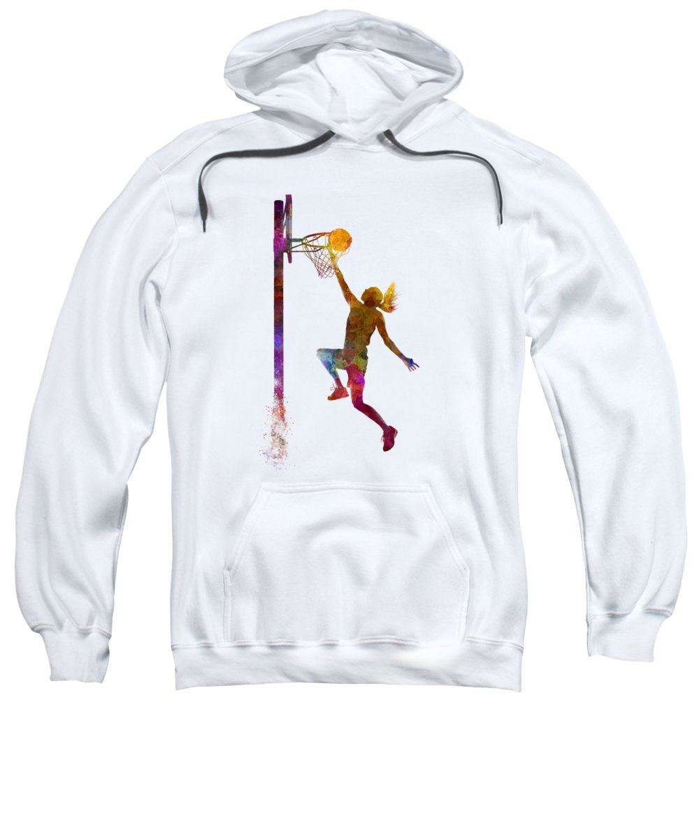 Young Woman Paintings Hooded Sweatshirts T-Shirts