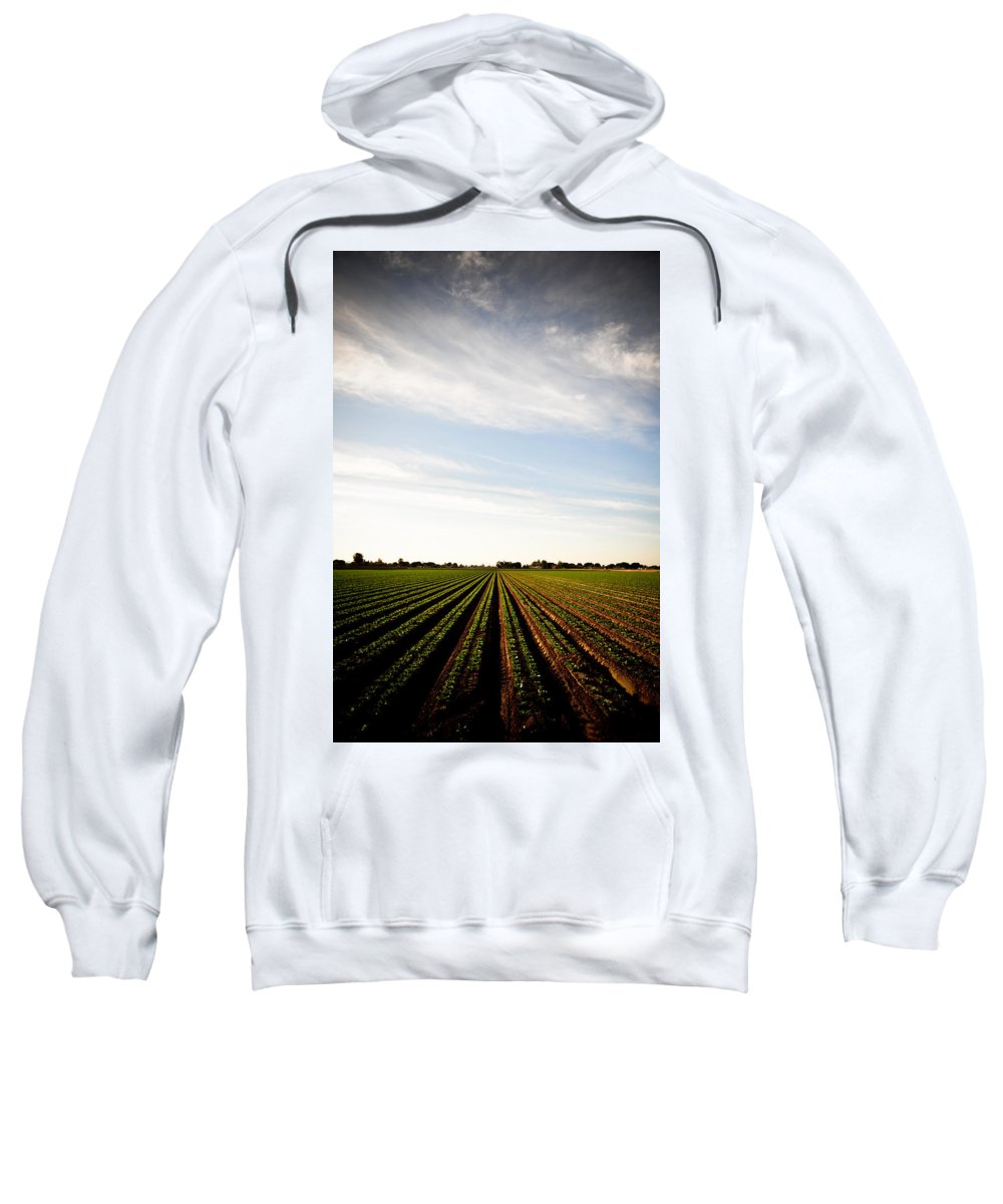 Lettuce Sweatshirt featuring the photograph Yuma Fields by Scott Sawyer
