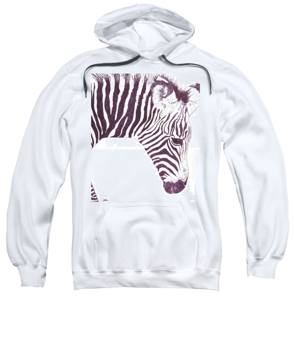 Zebra Sweatshirt featuring the painting Zebra Colt by Debra Sandstrom