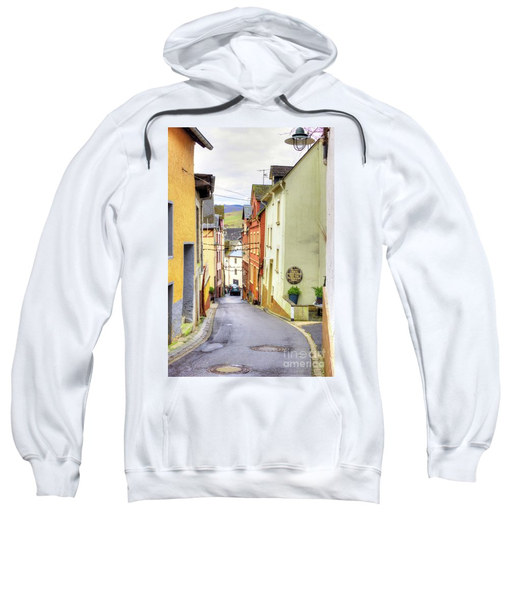 Scenic Sweatshirt featuring the photograph Zell Mosel Village Germany by Juli Scalzi