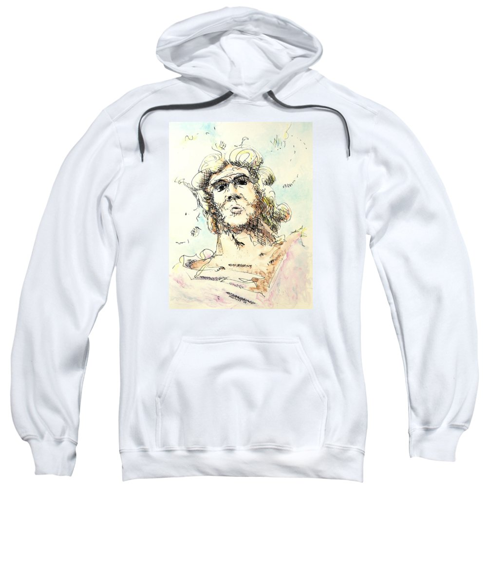 Zeus Sweatshirt featuring the painting Zeus by Dave Martsolf