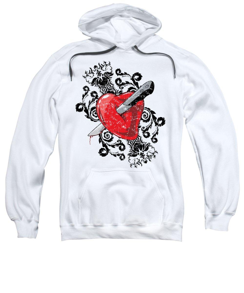 Halloween Sweatshirt featuring the digital art Anti Valentines Day 1 by Passion Loft