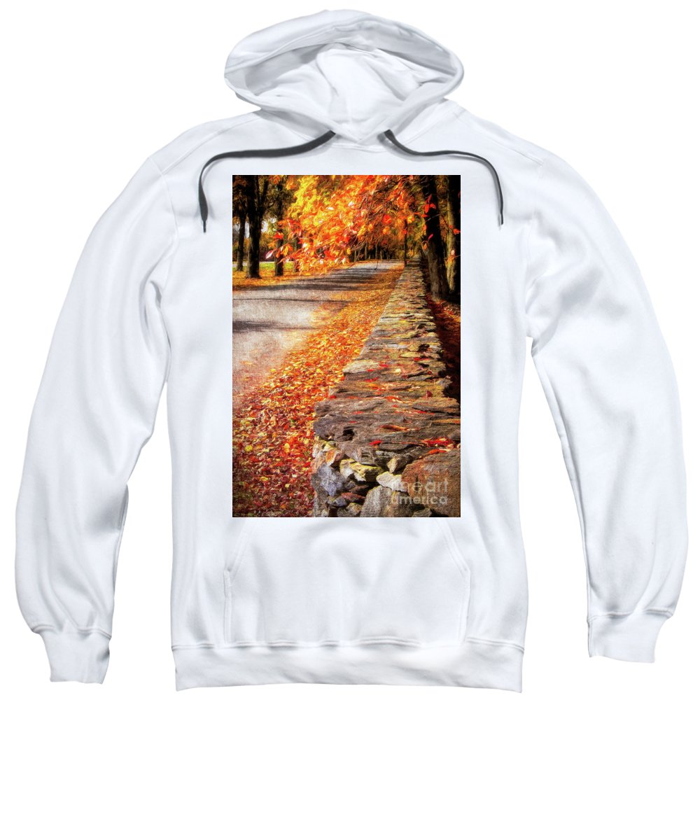 Autumn Sweatshirt featuring the photograph Autumn Avenue by Mike Nellums
