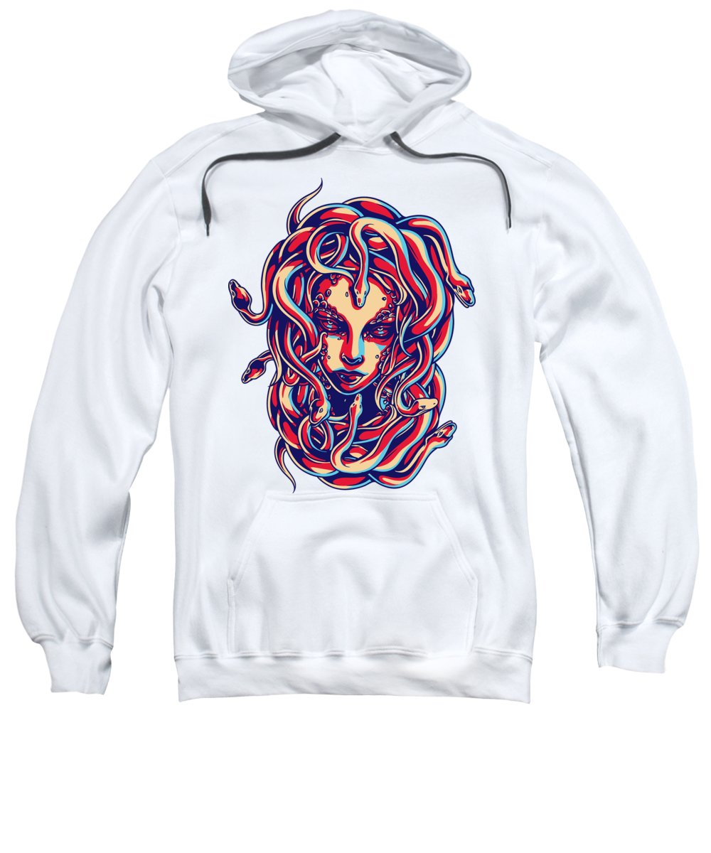 Greek-mythology Sweatshirt featuring the digital art Medusa 1 by Passion Loft
