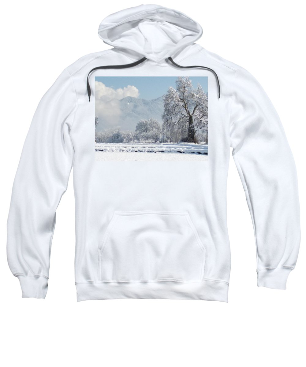 Sweatshirt featuring the photograph The Snow Story by Jacob