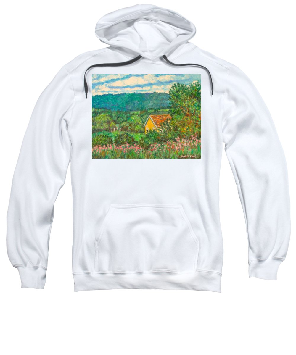 Landscape Sweatshirt featuring the painting 460 by Kendall Kessler