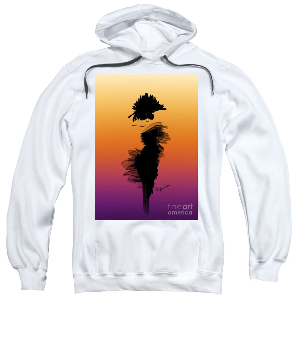 Fashion Design Sweatshirt featuring the digital art A Little Black Dress In The Sunset by Peta Brown
