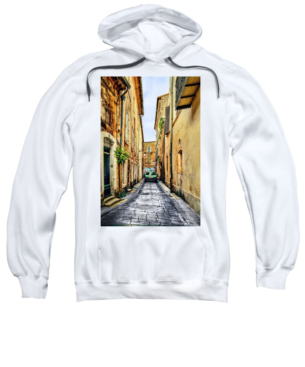 Avignon Sweatshirt featuring the photograph Alley In Avignon by Kay Brewer