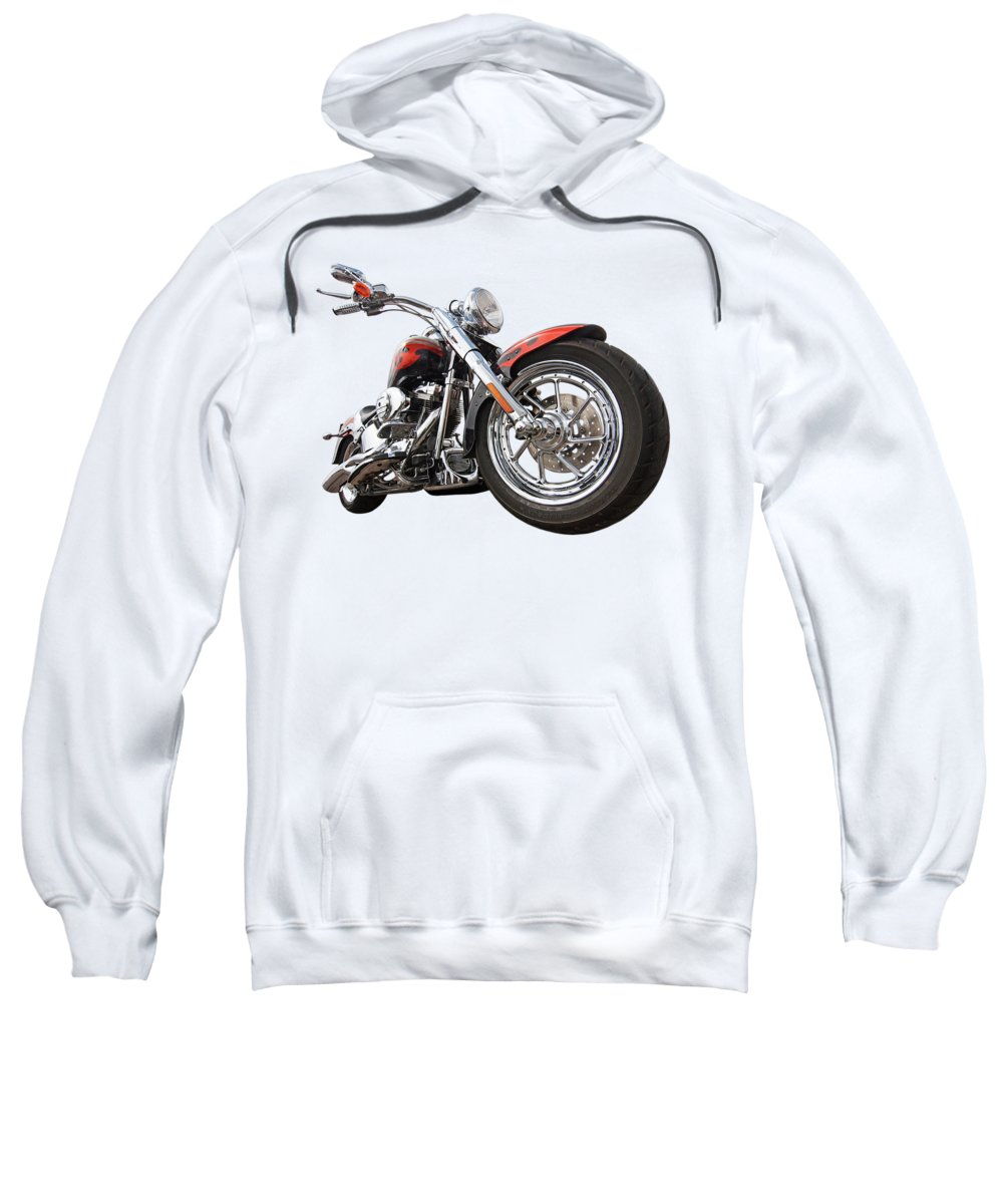 Harley Davidson Motorcycle Sweatshirt featuring the photograph Wet And Wild - Harley Screamin' Eagle Reflection by Gill Billington