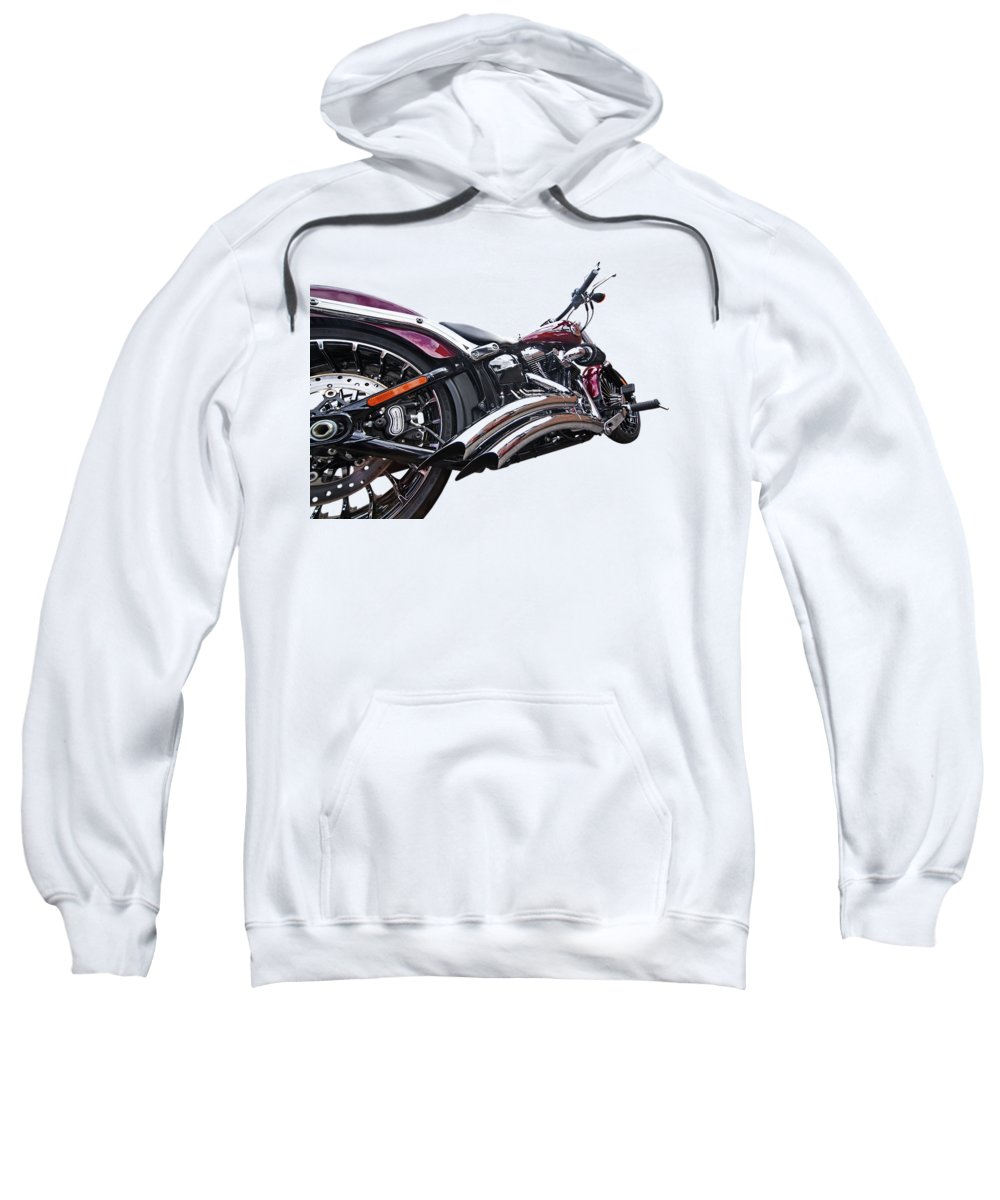 Harley Davidson Motorcycle Sweatshirt featuring the photograph Screamin Eagle 103 by Gill Billington