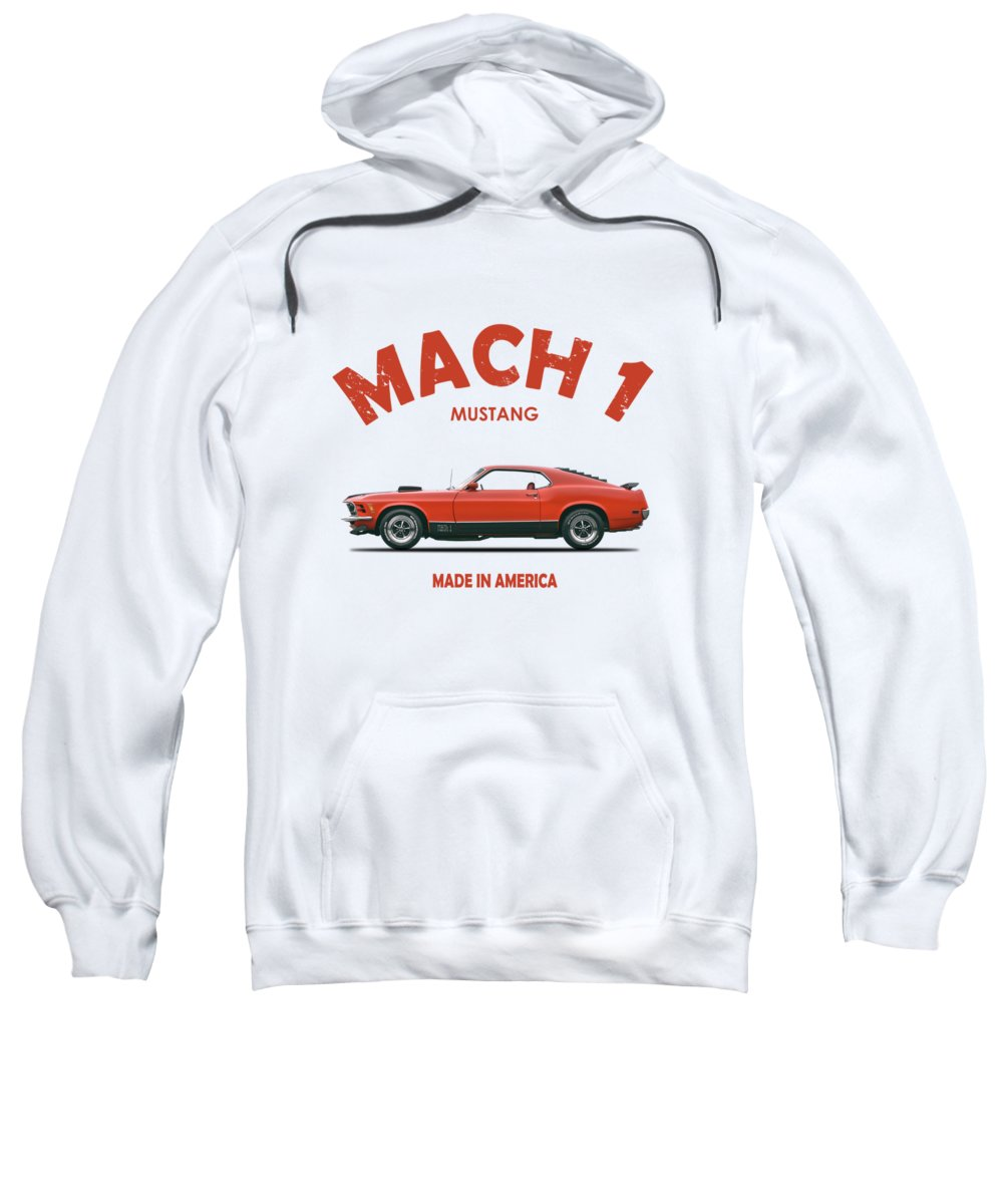 Ford Mustang Mach 1 Sweatshirt featuring the photograph The Mustang Mach 1 by Mark Rogan