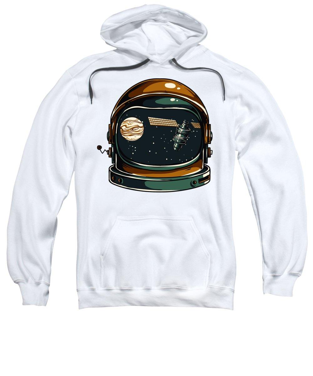 Spaceman Sweatshirt featuring the digital art Astronaut by Passion Loft
