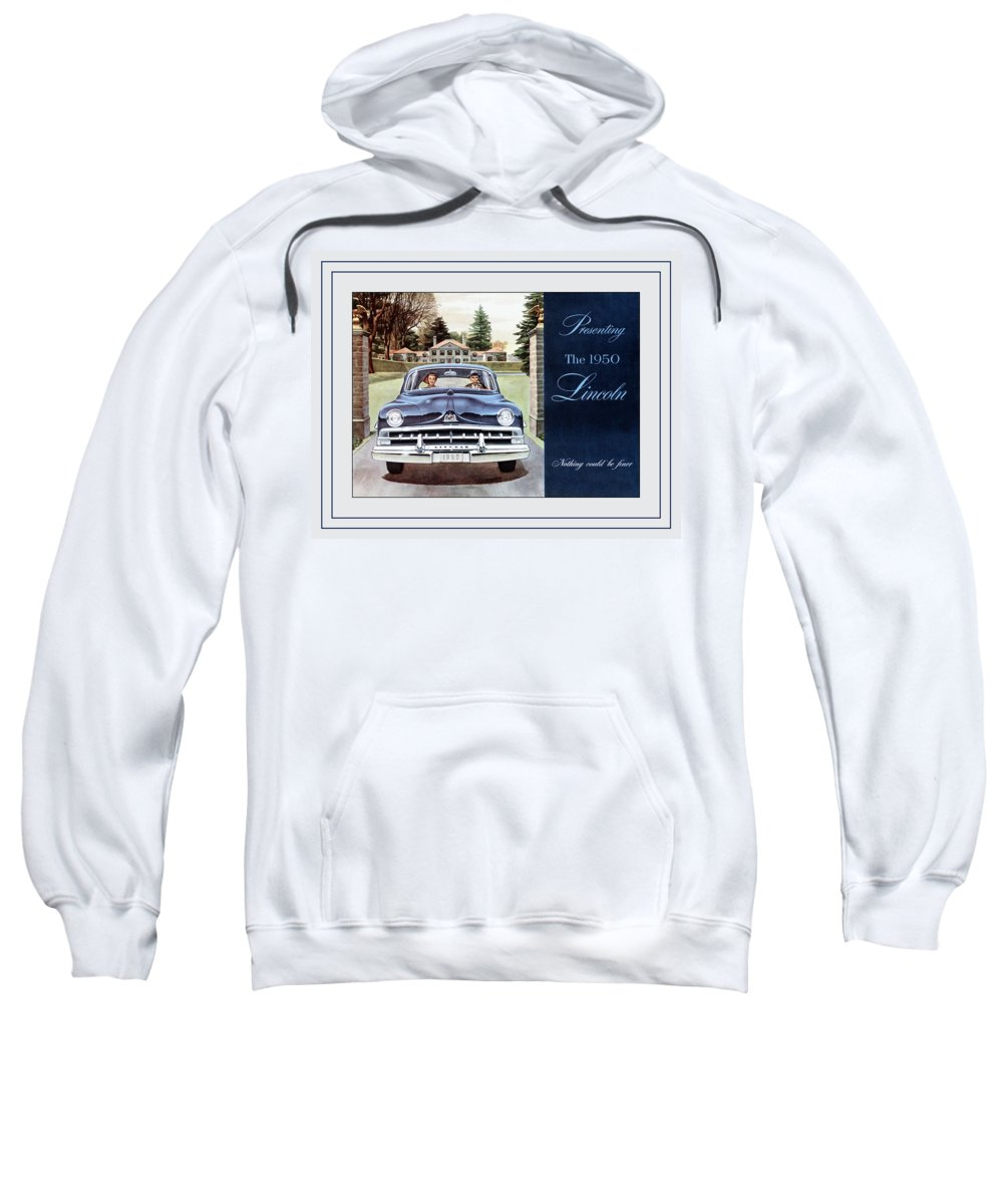 1950 Lincoln Sweatshirt featuring the photograph Automotive Art 70 by Andrew Fare