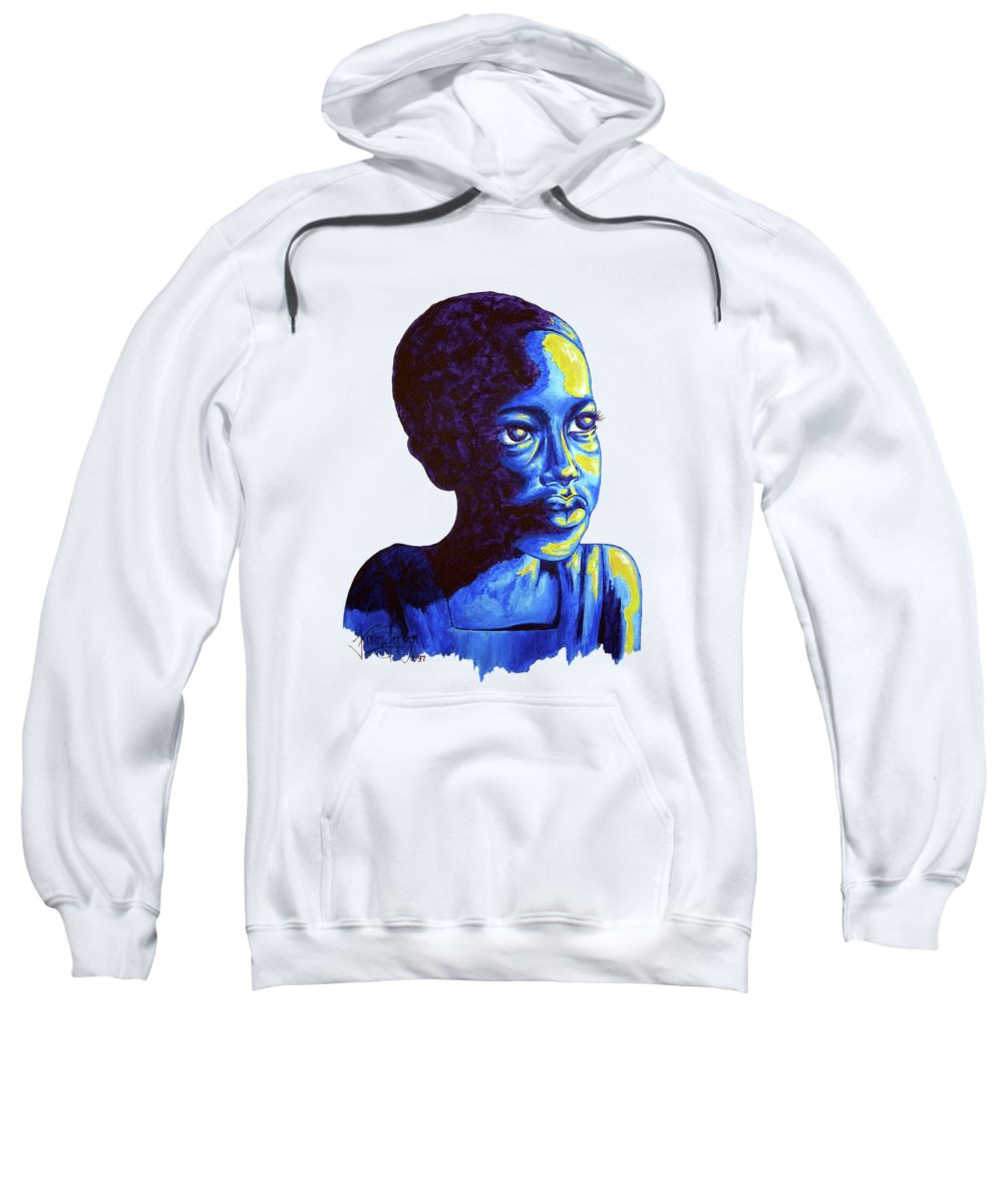 Boy Sweatshirt featuring the painting Boy Dreams by Konni Jensen