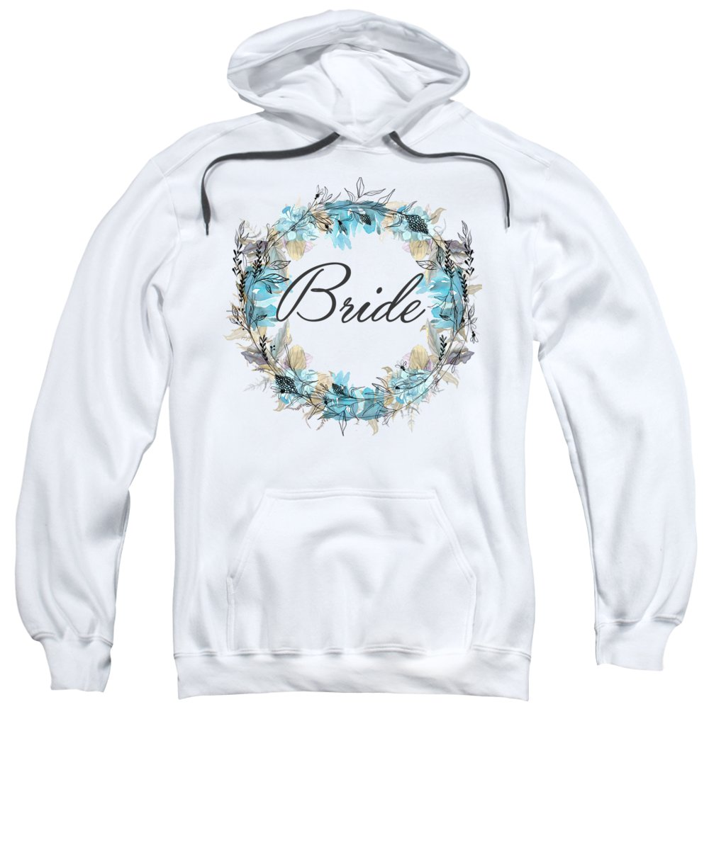 Bride Sweatshirt featuring the mixed media Bride by Mo T