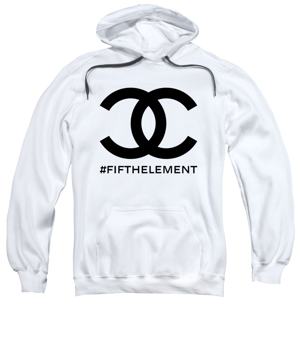 Chanel Sweatshirt featuring the painting Chanel Fifth Element-1 by Nikita