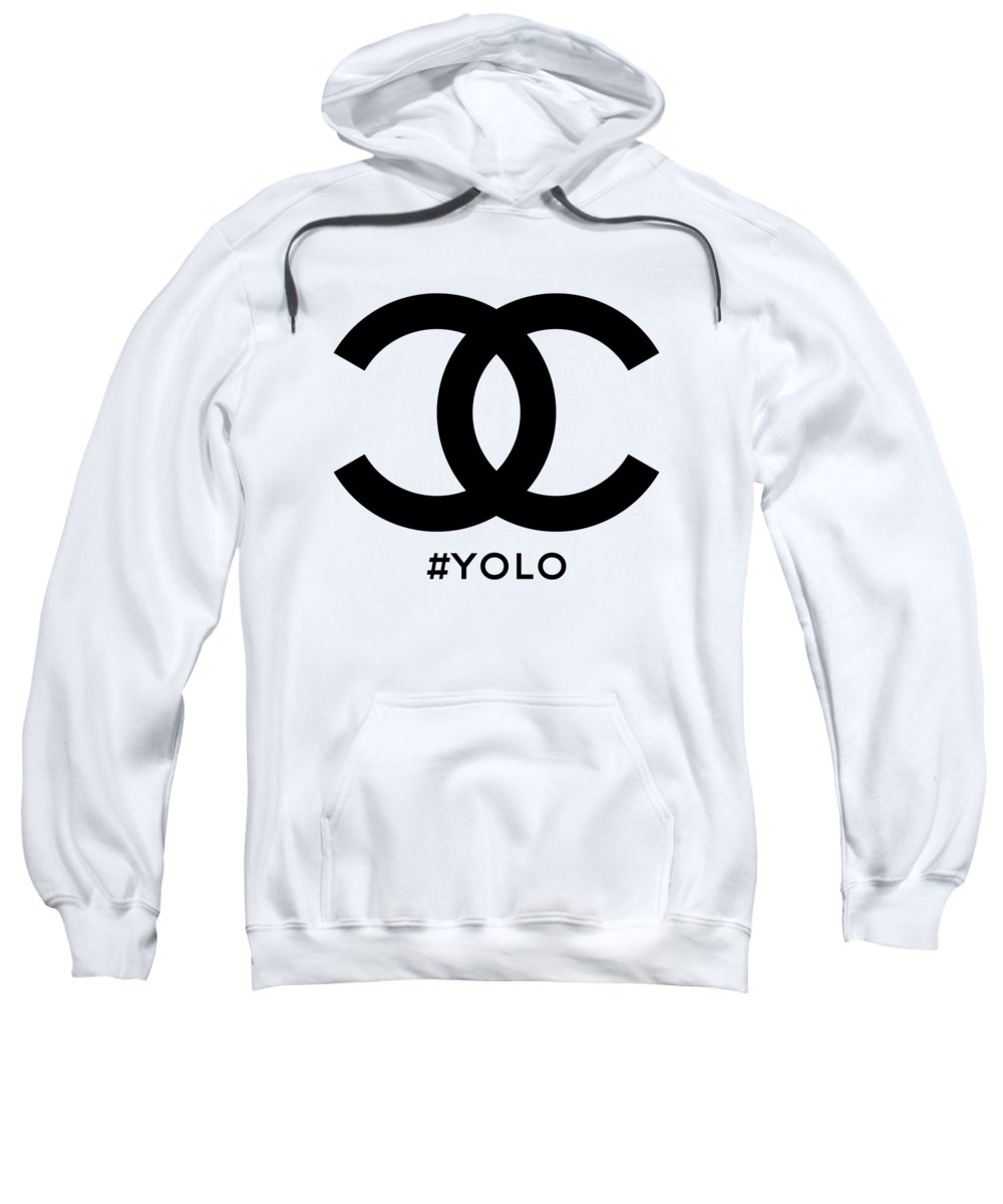 Chanel Sweatshirt featuring the painting Chanel Yolo - You Only Live Once by Nikita