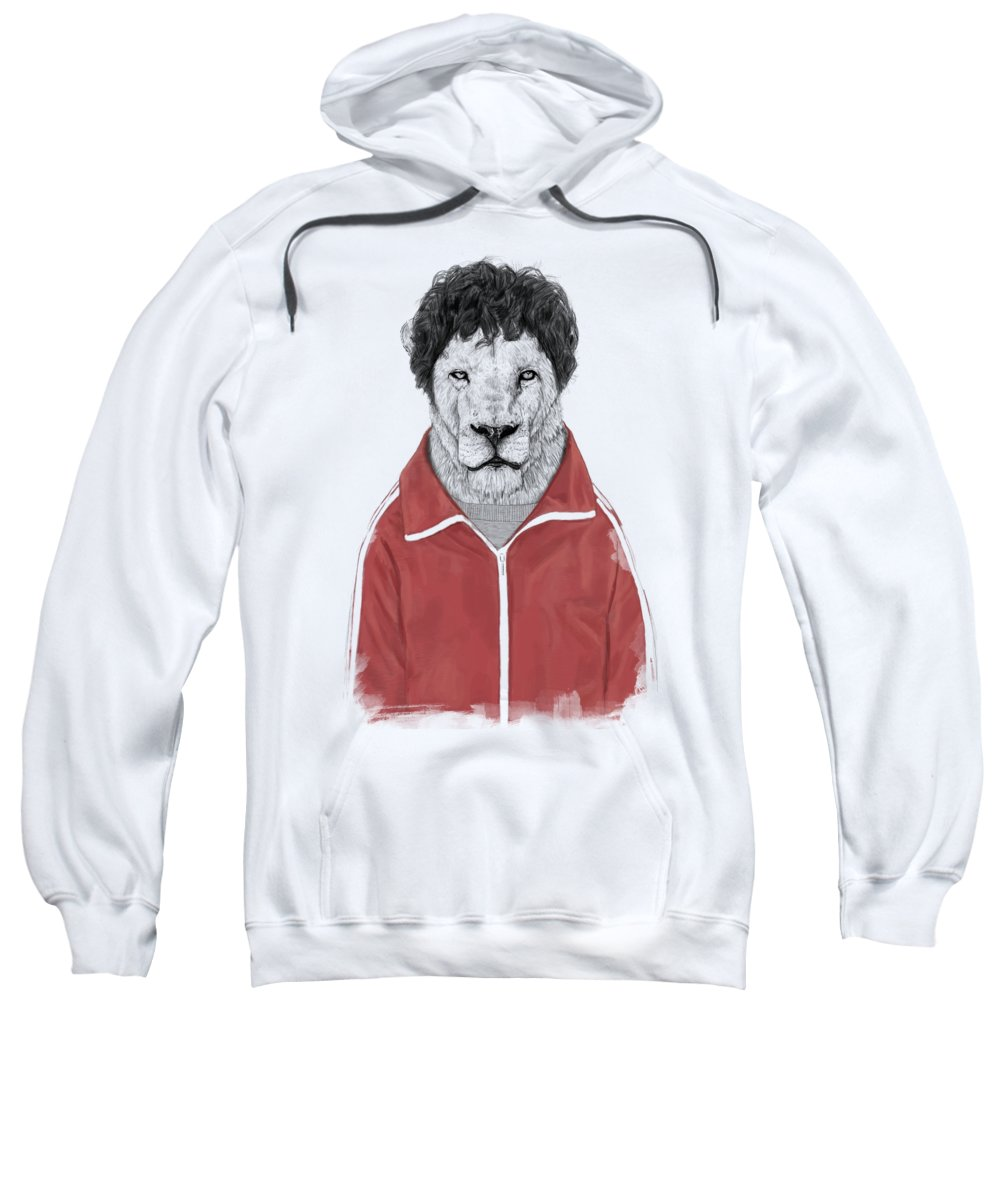 Lion Sweatshirt featuring the drawing Chas by Balazs Solti