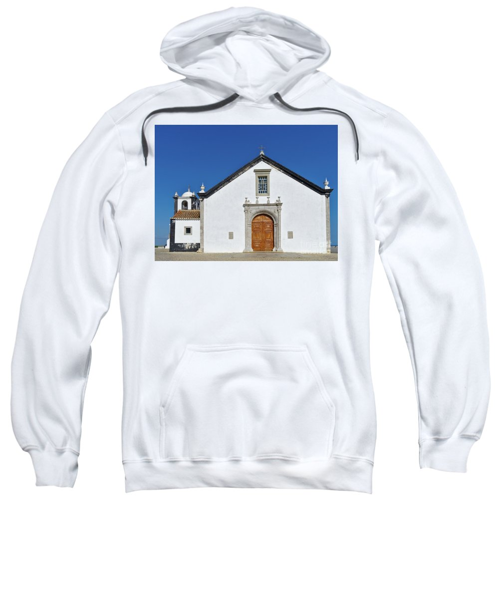 Old Sweatshirt featuring the photograph Church Of Cacela Velha In Portugal by Angelo DeVal