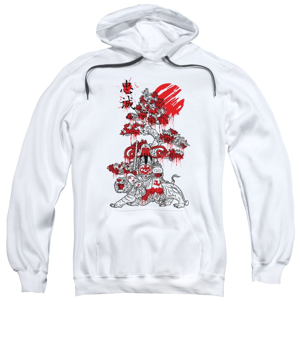 Oriental-art Sweatshirt featuring the digital art Confucius by Passion Loft