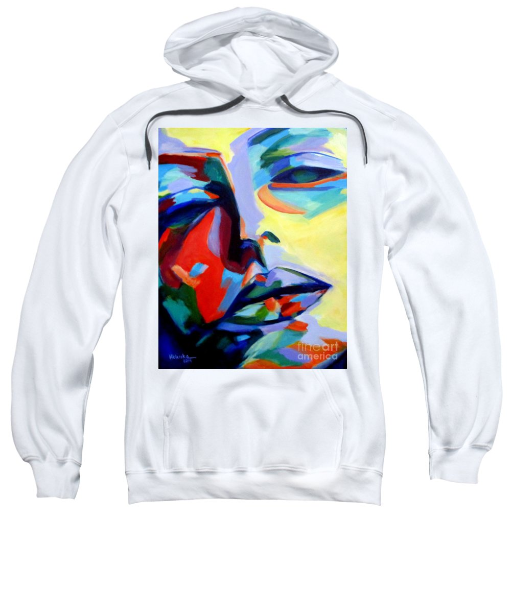 Affordable Original Art Sweatshirt featuring the painting Drifting Into A Dream by Helena Wierzbicki
