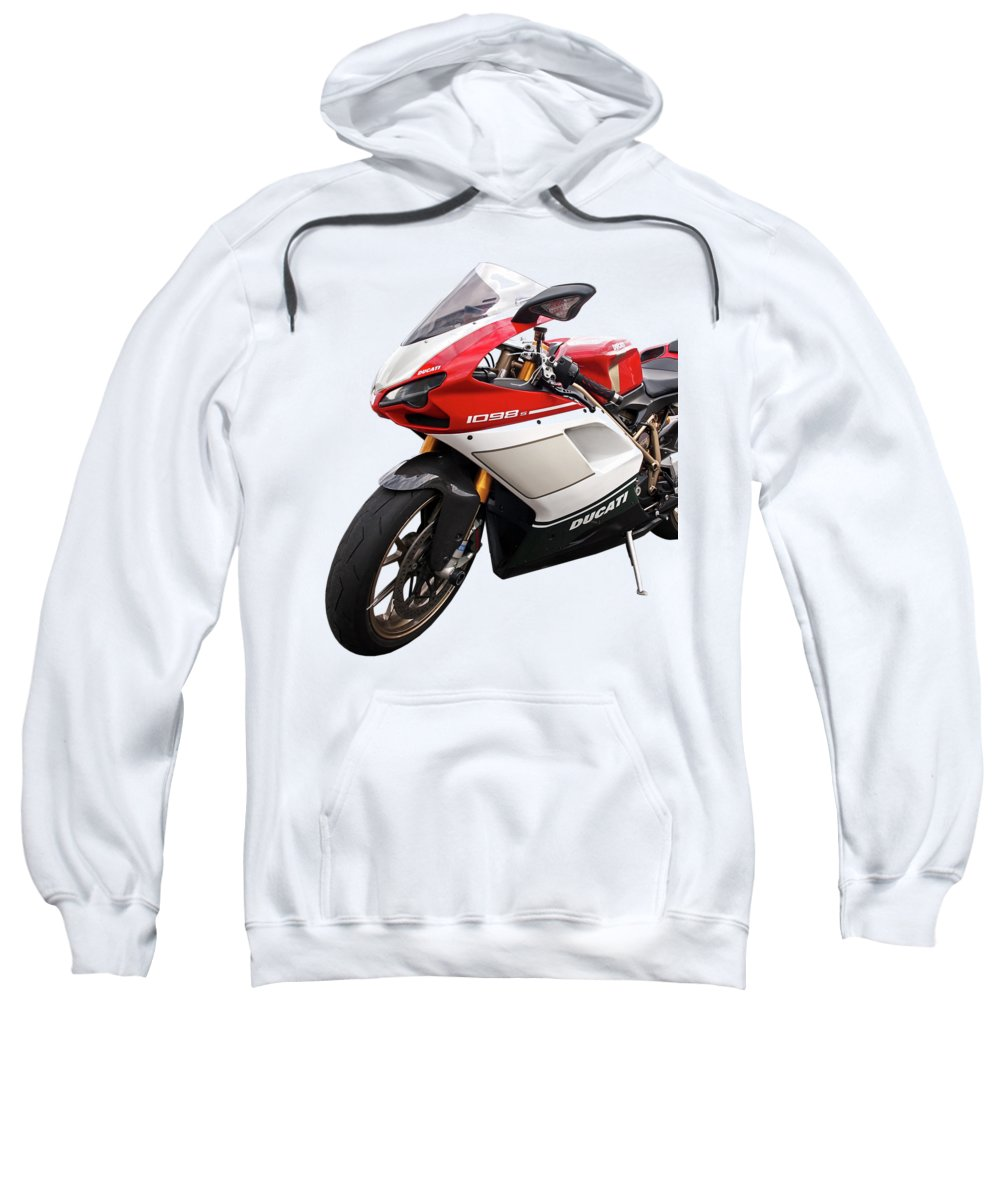 Motorcycle Sweatshirt featuring the photograph Ducati 1098s Motorcycle by Gill Billington