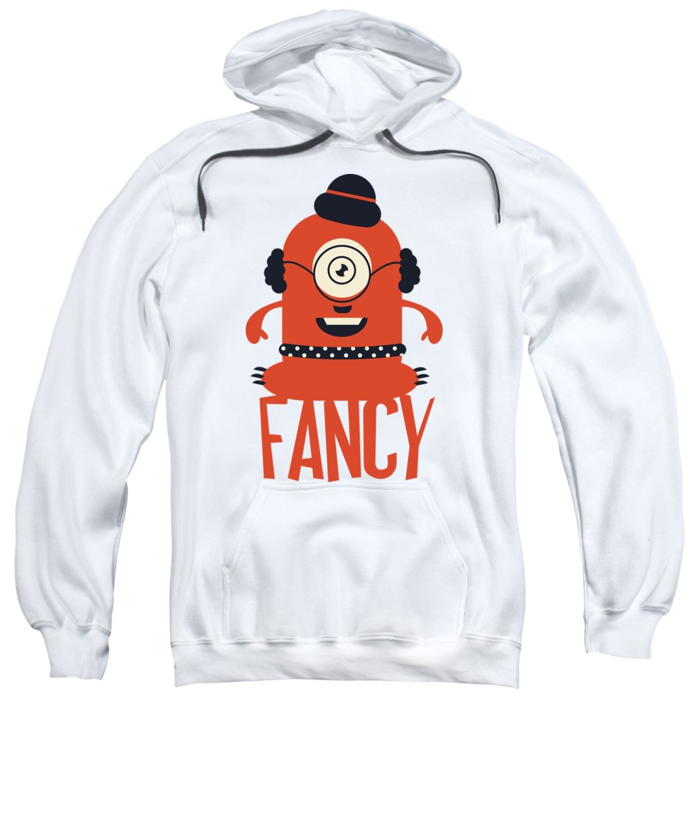 Cartoon Sweatshirt featuring the digital art Fancy Monster by Passion Loft
