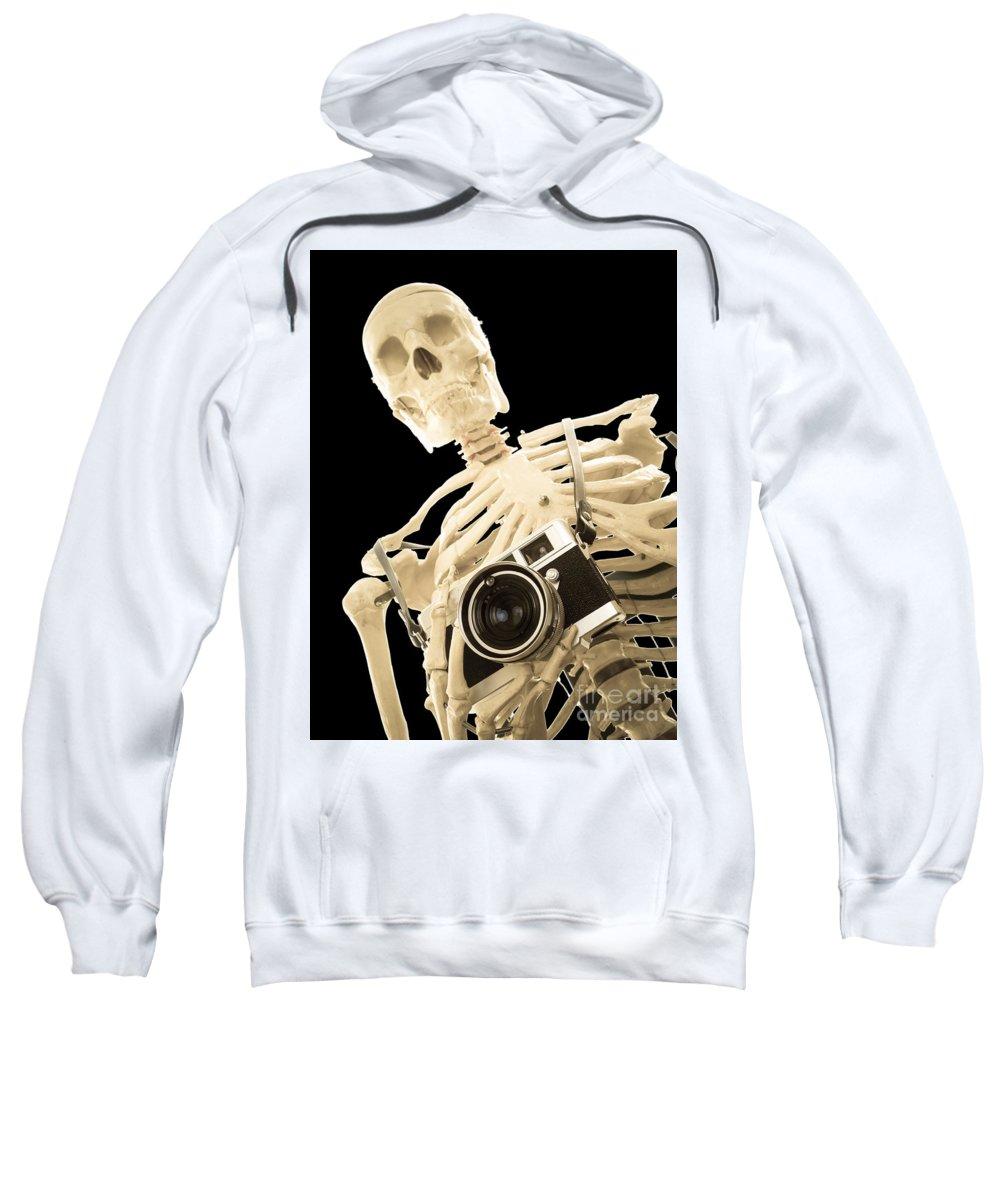 Skeleton Sweatshirt featuring the photograph Film Is Dead by Edward Fielding