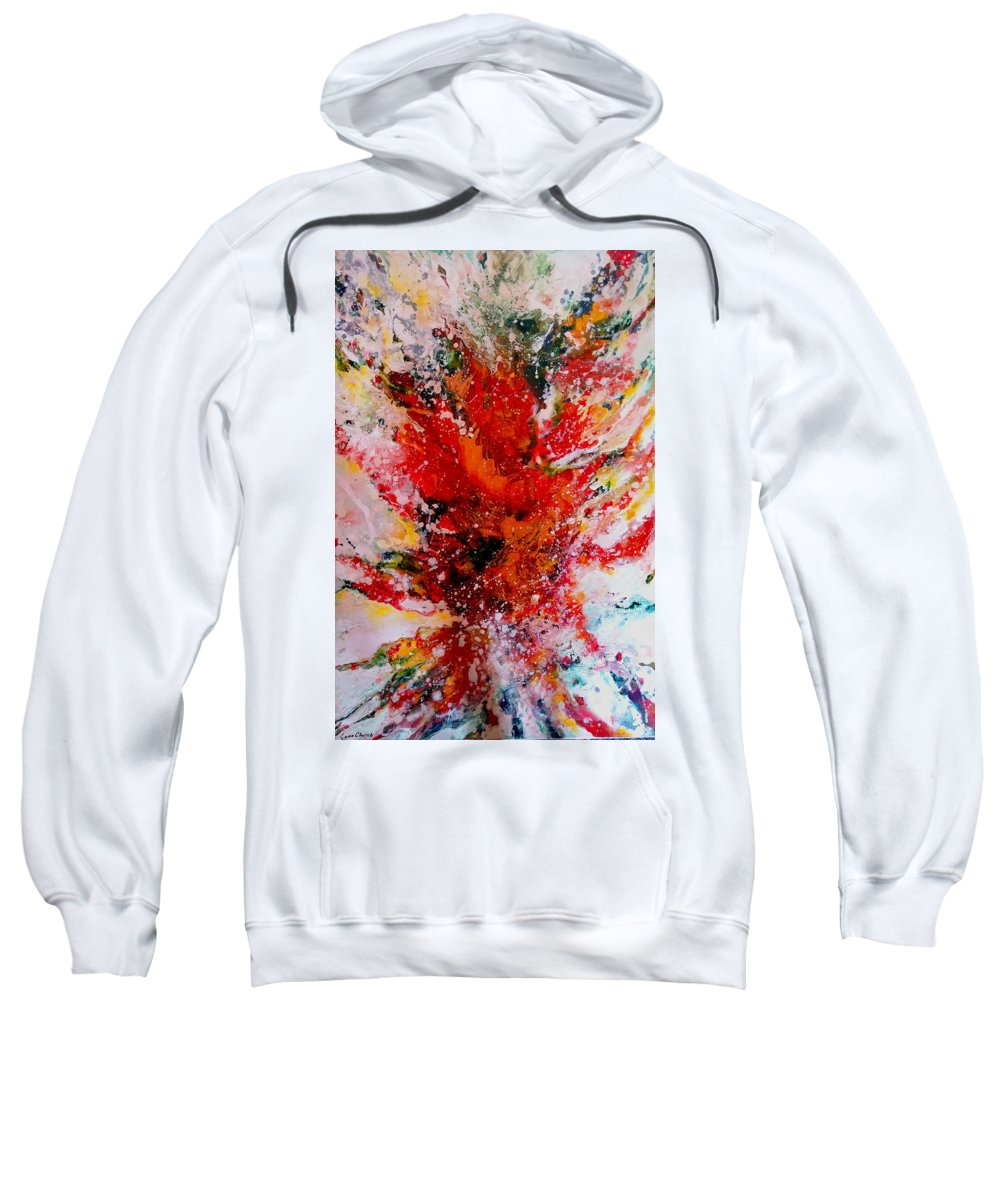 Prophetic Painting Sweatshirt featuring the painting Glory Explosion by Lynn Church
