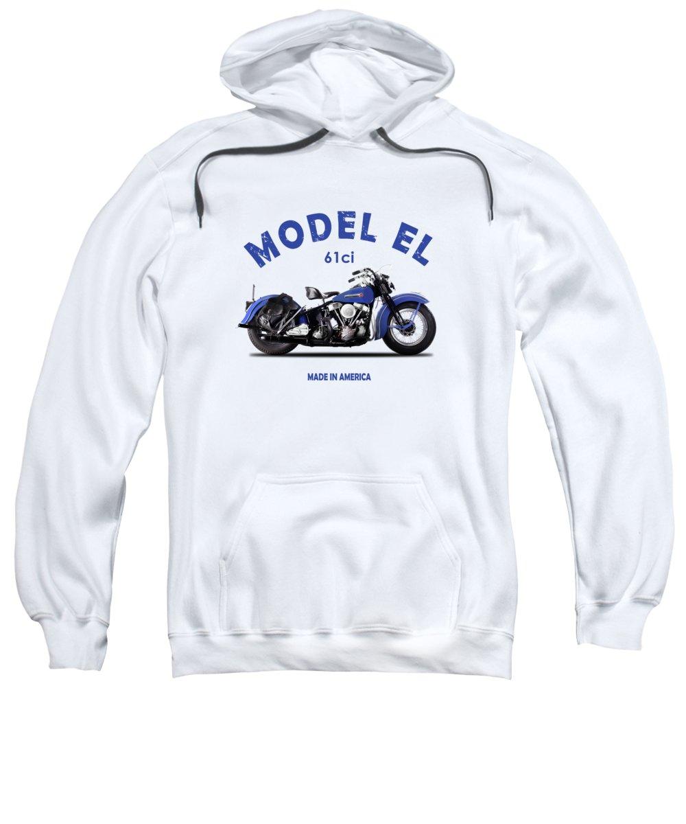 Harley Davidson Sweatshirt featuring the photograph Harley-davidson El 1948 by Mark Rogan