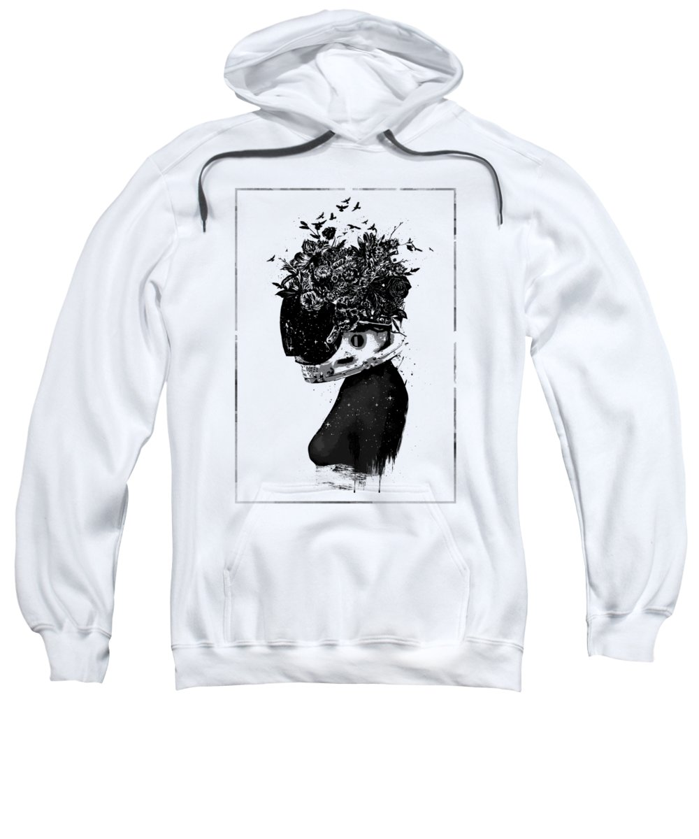 Girl Sweatshirt featuring the mixed media Hybrid Girl by Balazs Solti