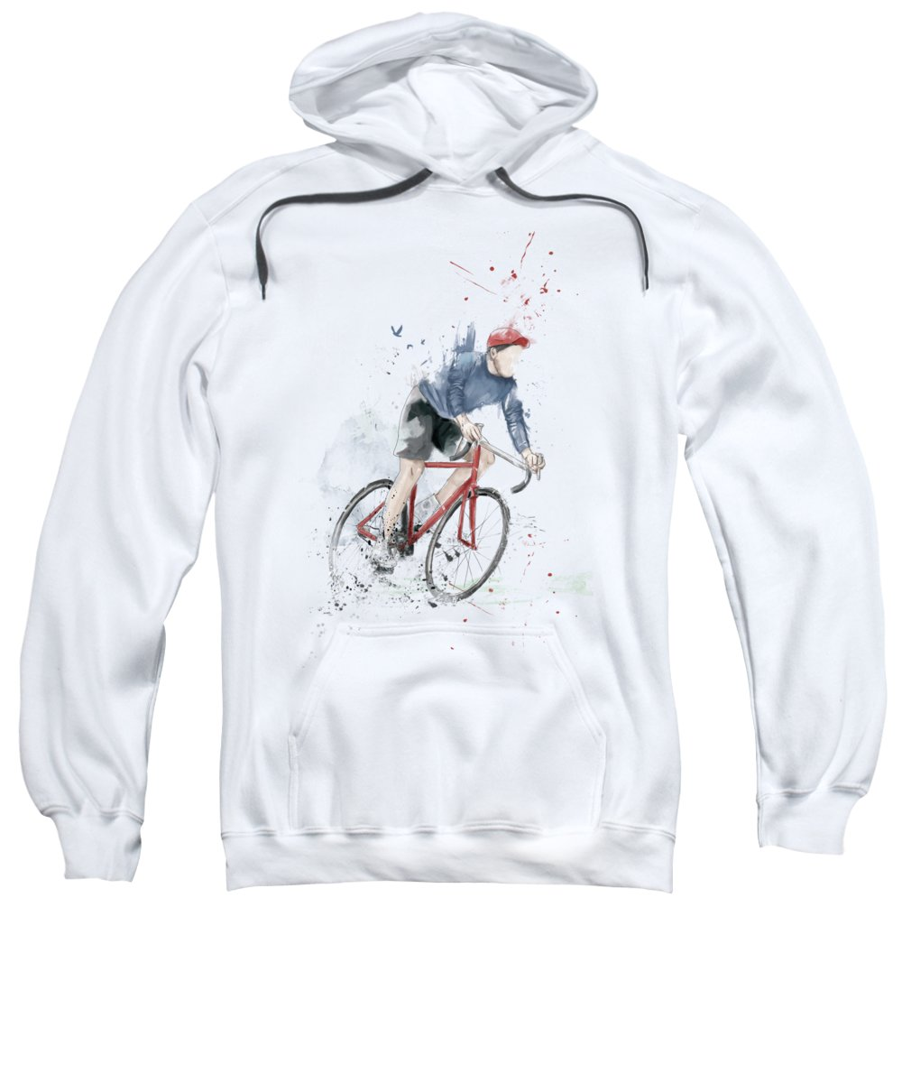 Bike Sweatshirt featuring the mixed media I Want To Ride My Bicycle by Balazs Solti