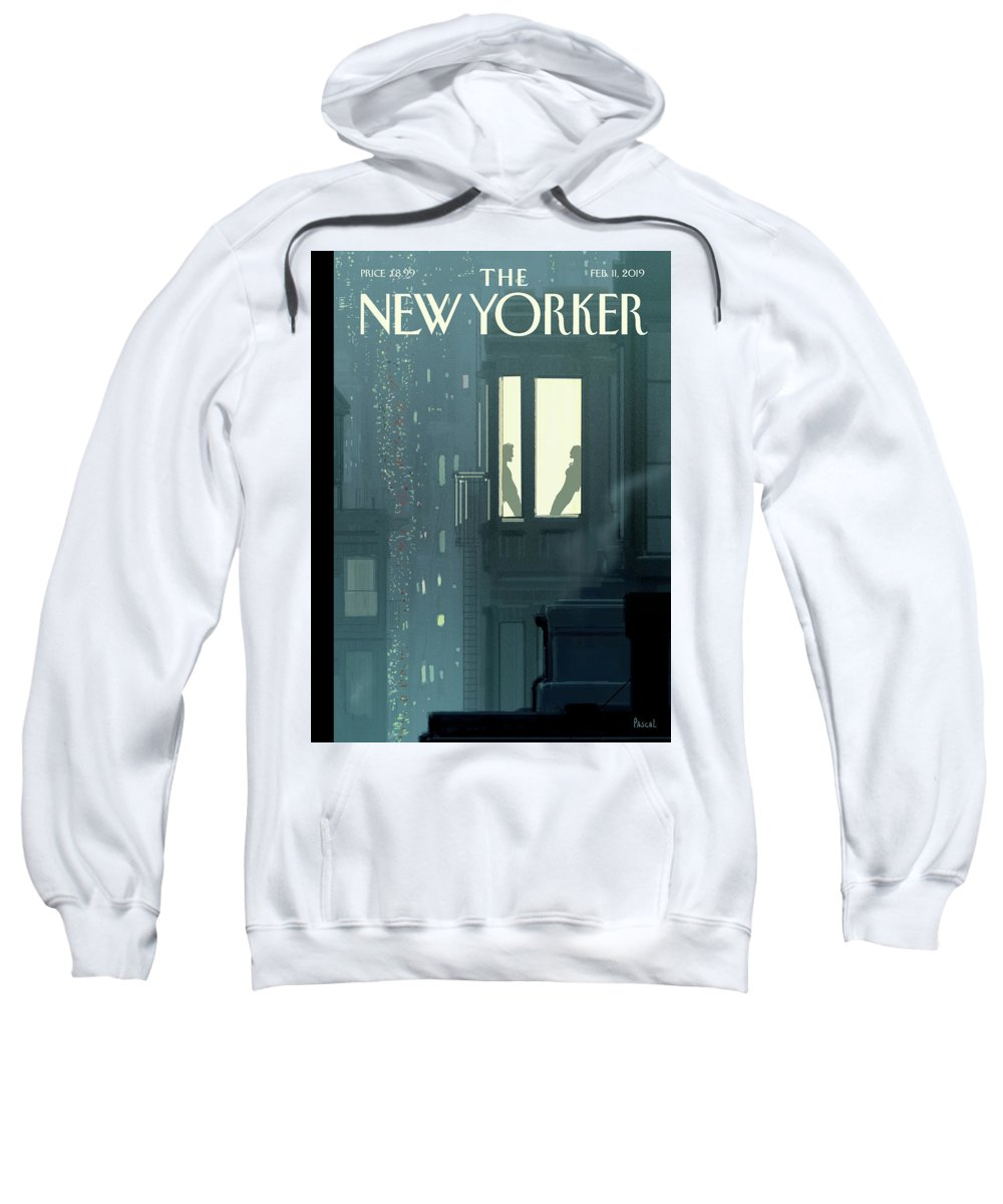 Love Interest Sweatshirt featuring the painting Love Interest by Pascal Campion