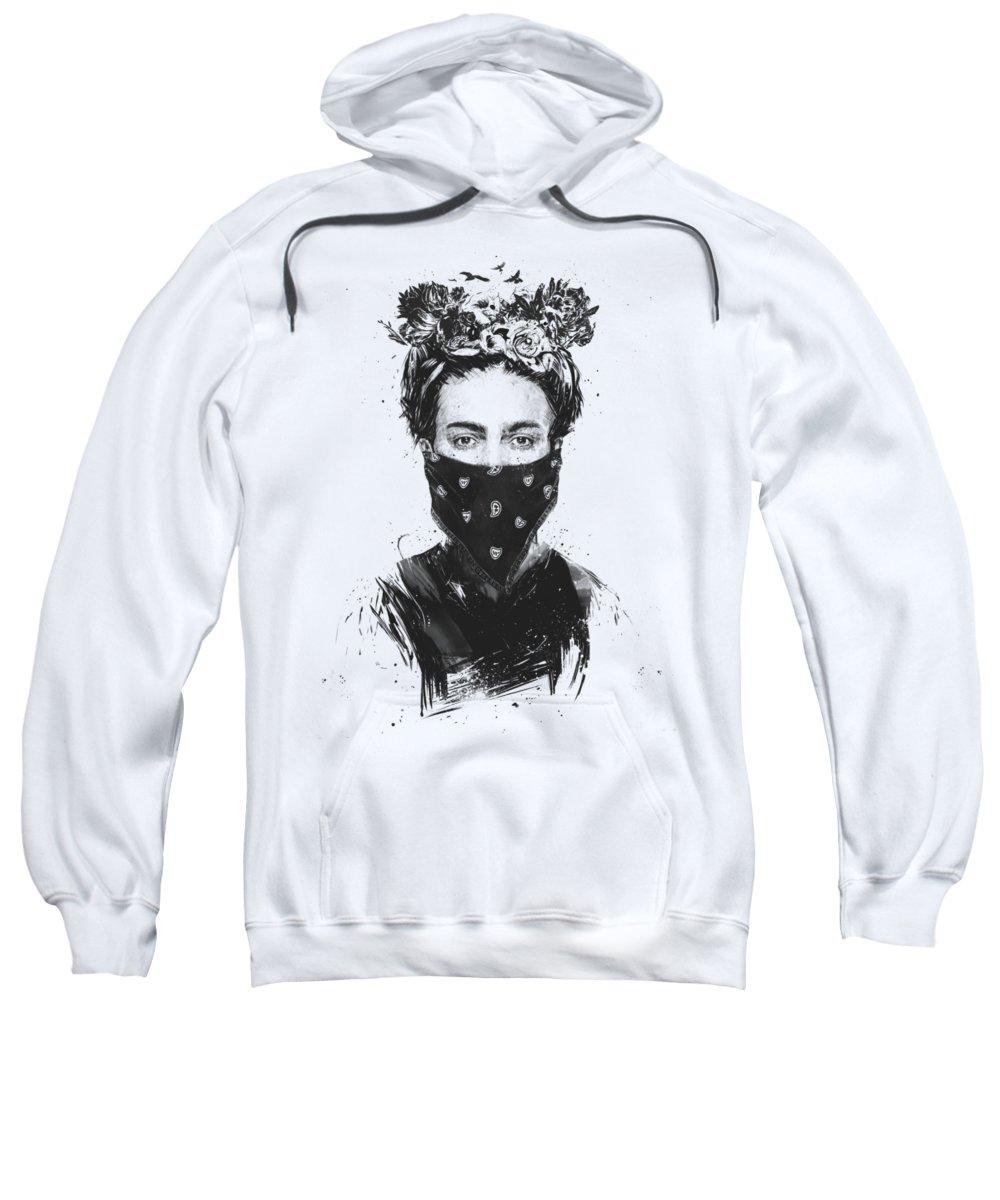 Female Drawings Hooded Sweatshirts T-Shirts