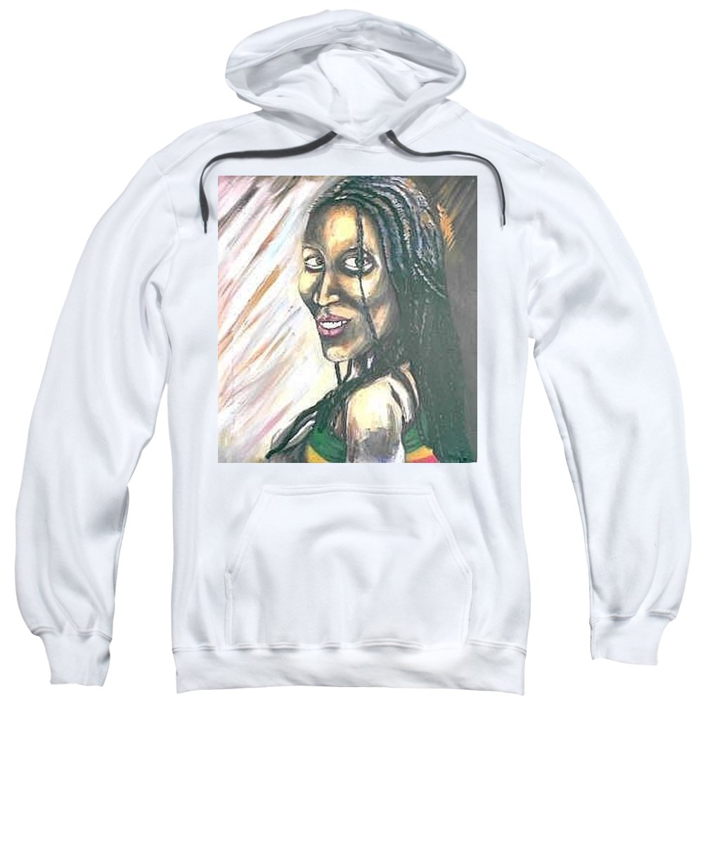 Sweatshirt featuring the painting Sister by Andrew Johnson