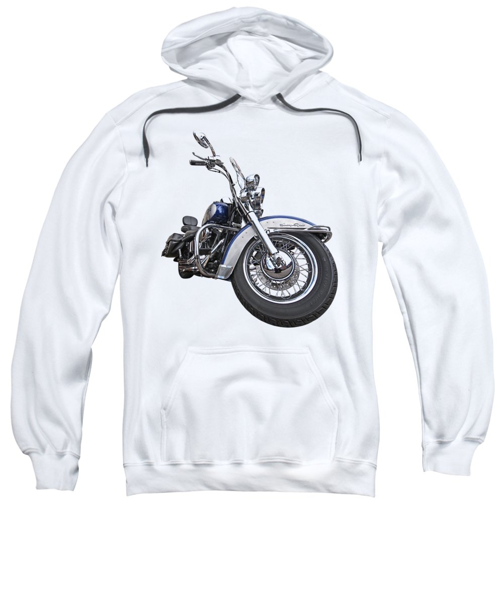 Harley Davidson Motorcycle Sweatshirt featuring the photograph Softail Blues by Gill Billington