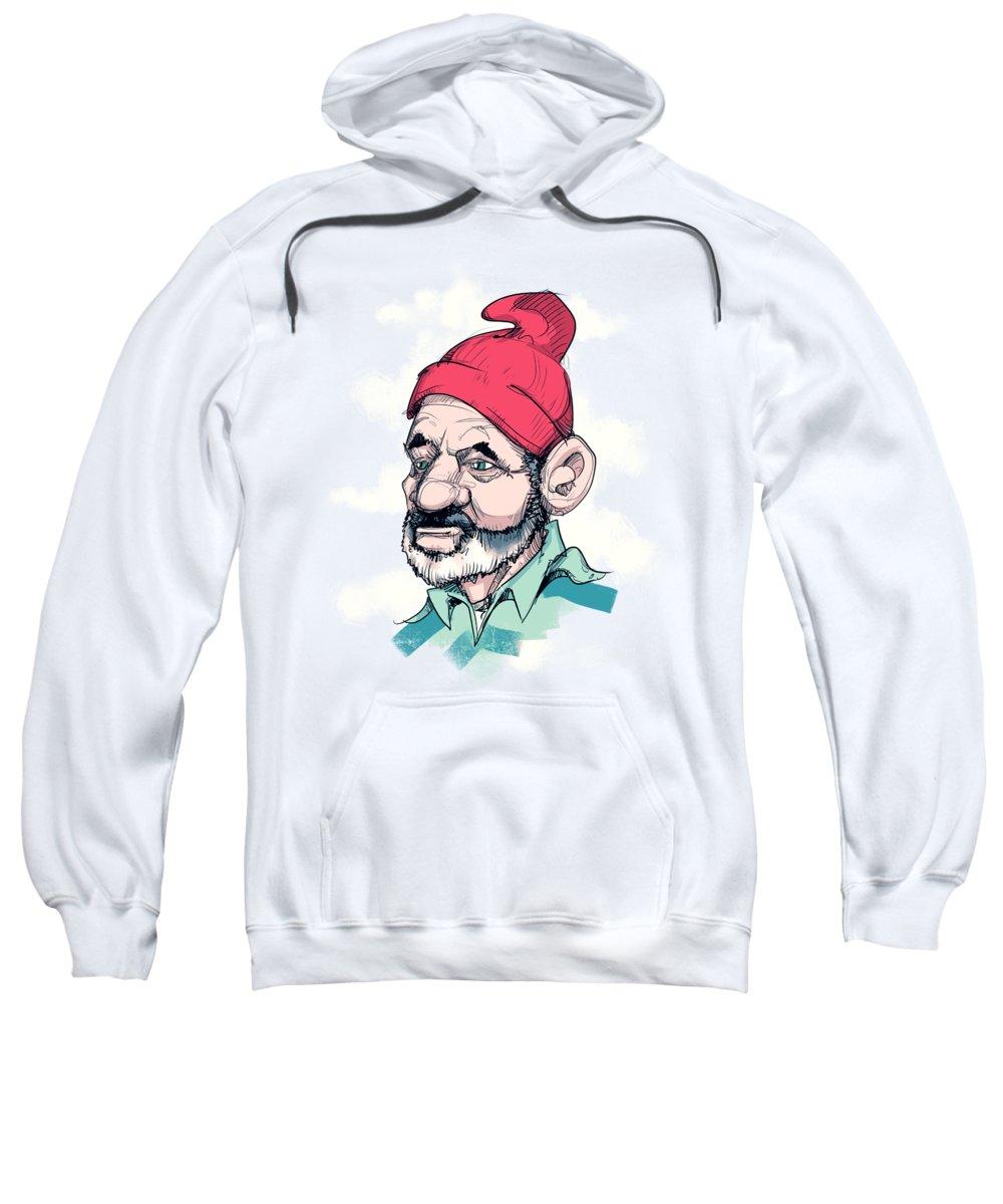 Life Aquatic Sweatshirt featuring the drawing Steve by Ludwig Van Bacon