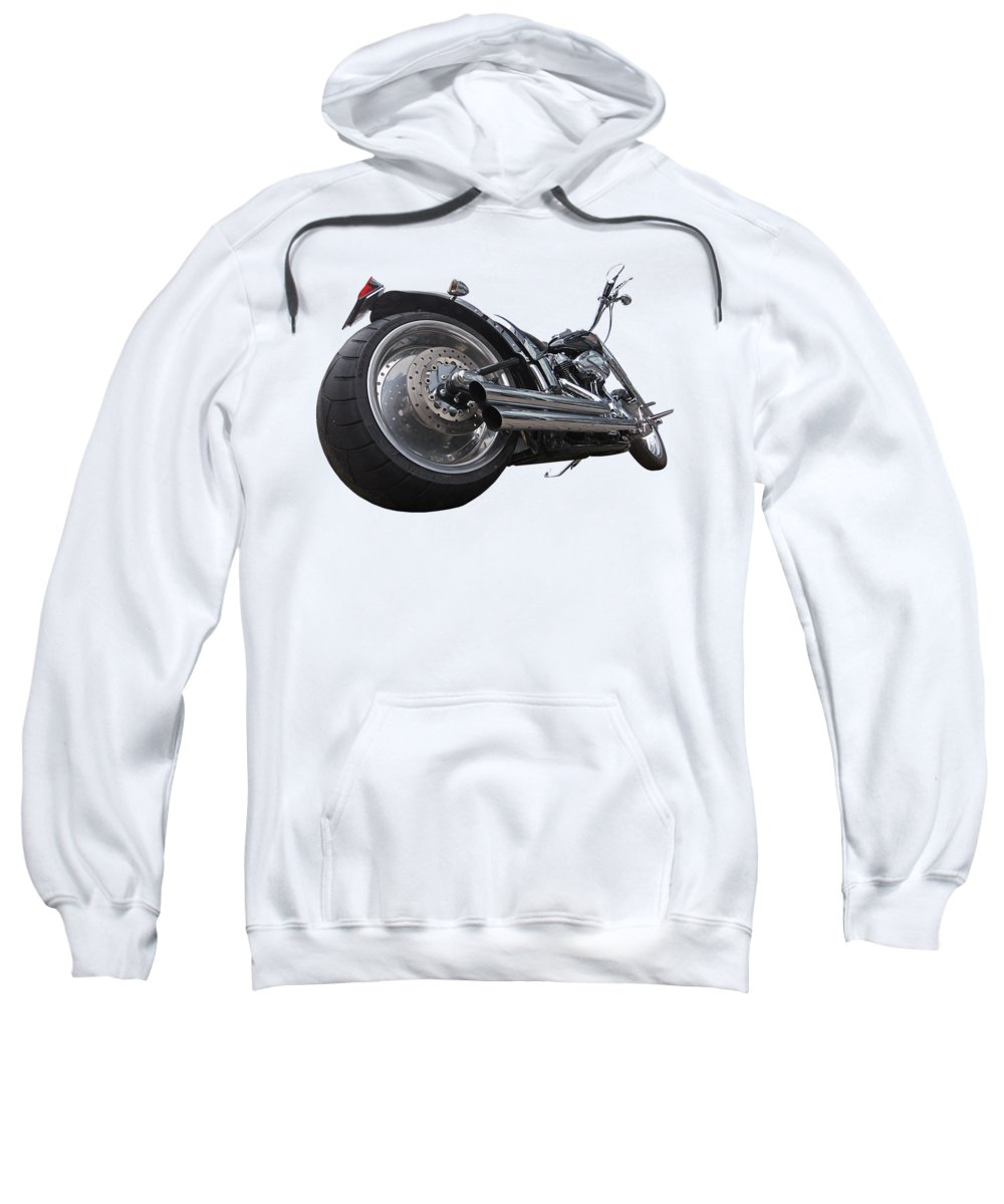 Harley Davidson Motorcycle Sweatshirt featuring the photograph Storming Harley by Gill Billington