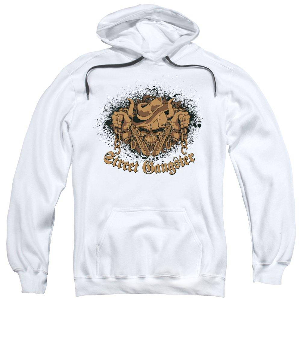 Halloween Sweatshirt featuring the digital art Street Gangster by Passion Loft