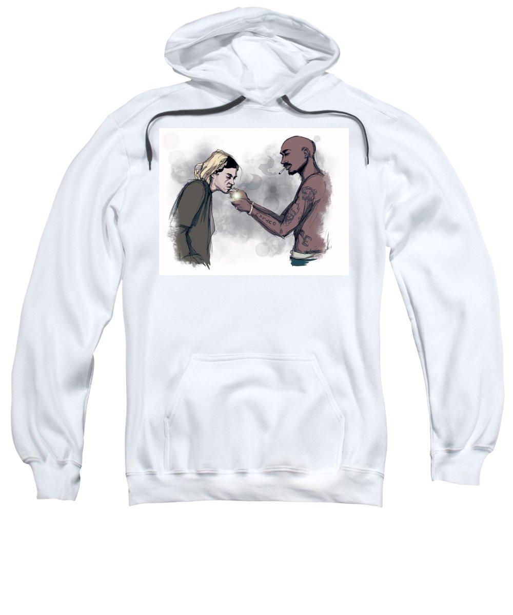 Teenage Angst Sweatshirt featuring the drawing Teenage Angst by Ludwig Van Bacon