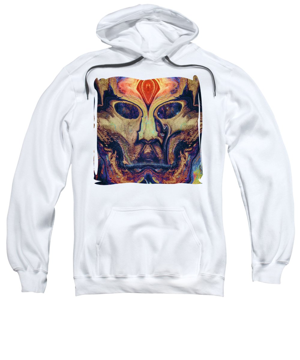 'abstracts Plus' Collection By Serge Averbukh Sweatshirt featuring the digital art The Sky Mother by Serge Averbukh